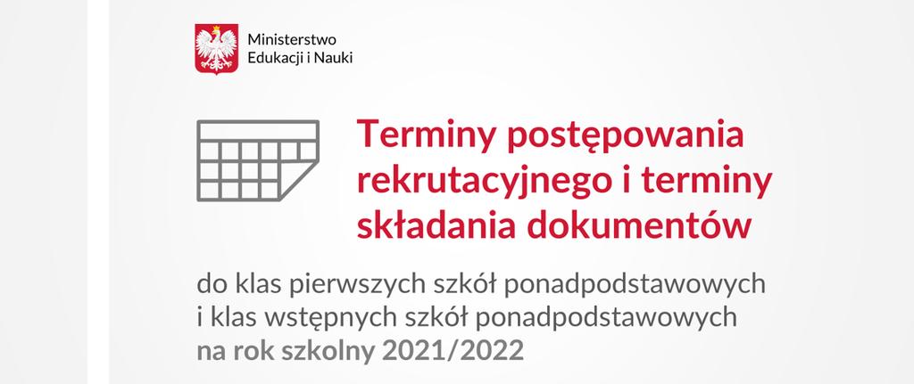 Rekrutacja do szkół ponadpodstawowych 2021/2022